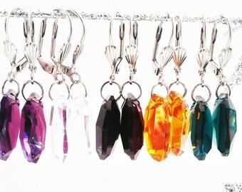 5 Set Of Swavorski Crystal Drop Earring