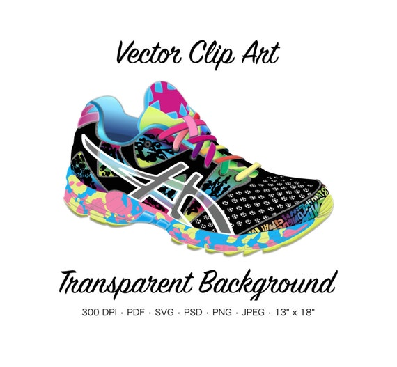 asics shoes cleaning background template colorful fish 642548