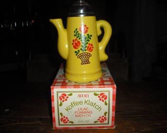 Avon's Koffee Klatch is a Norwegian style Kaffee(coffee) pot.