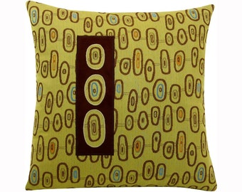 Three Eye Classic Size Modern Decorative Pillow 17 x 17 inches