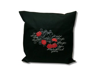 Dark Fairytale Cushion  Sleeping Beauty