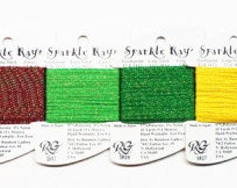 Petite Sparkle Rays 4.20 Each, Sparkle Rays Thread, Rainbow Gallery Petite Sparkle Rays Thread, Rainbow Gallery Sparkle Rays Thread, Yarns