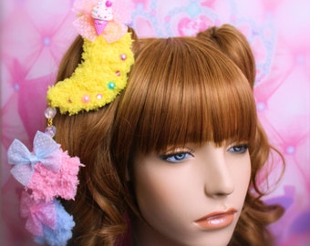 MADE TO ORDER-Sweet Lolita Hair Accessory-Fairy Kei Accessory-Alligator Clip-Women's Hair Accessory-kawaii accessory-Lolita head accessory