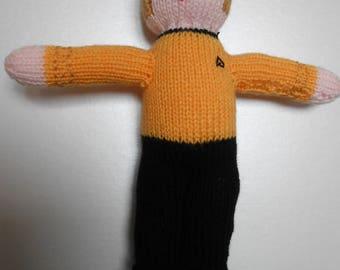 Captain Kirk knitted doll