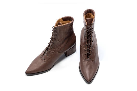 Boots Brown Booties Pointy Brown Made Ankle Handmade Winter Boots Boots Boots Shoes Comfortable Leather Booties Custom 1rxqrE