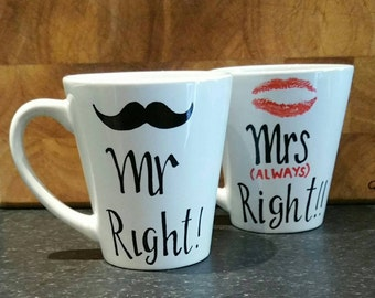 Mr Right, Mrs Always Right Mugs