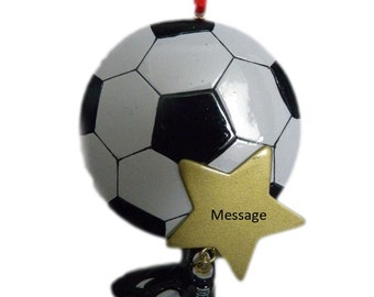 Soccer Ball Ornament, Personalized Christmas Ornament, Ornament, Soccer Ball, Personalized, Soccer Star