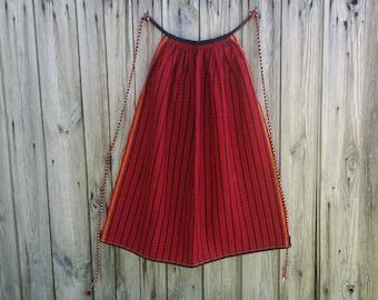 Vintage apron, Woman apron, Baking apron, Woven woolen apron, Handmade kitchen apron, Ladies aprons, Chef apron,Traditional apron,Folk apron