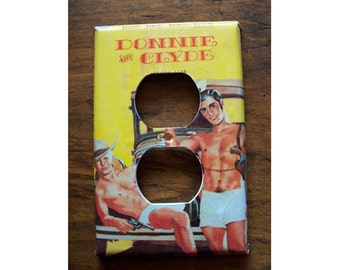 Gay pulp outlet switch plate cover retro vintage beefcake pulp fiction paperback kitsch