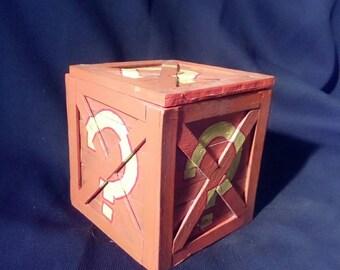 Hand made Crash Bandicoot question mark box
