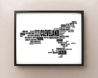Cleveland Typography Map