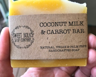 Carrot and Coconut Milk Bar Soap
