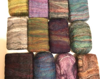 Felted Soap Merino Wool Multi Color