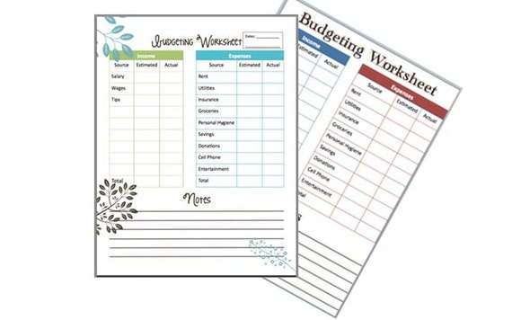 Teen budget worksheet household template current concept sample ...