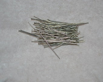 "24ga. - 1"" Antique Silver Headpins - 50 pcs (25mm) (3051504)"