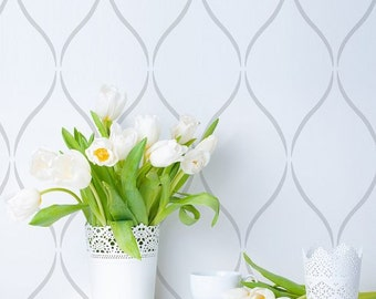 Serenity Allover Stencil Design - Size: Small - Better than Wallpaper - Perfect For a Quick, Easy, and Fun DIY Wall Improvement