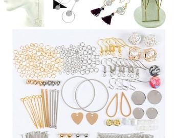 Diy Earring Kit, Earring Making, earring components, Minimalist geometric Earrings, Blanks Bar, craft earring, make earring, 1 Kit