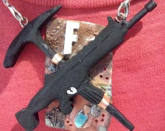 Pendant Fortnite necklace scar + pico