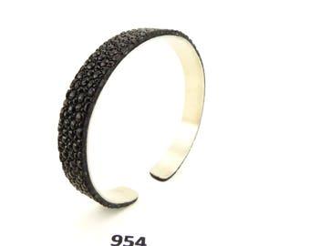 Genuine stingray leather Bracelet stainless Steel