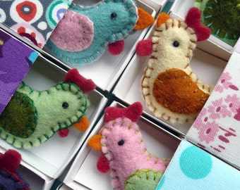 Matchbox Chickens PDF Sewing Pattern