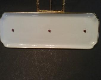 Chamart Limoges Ladybug Tray / Platter