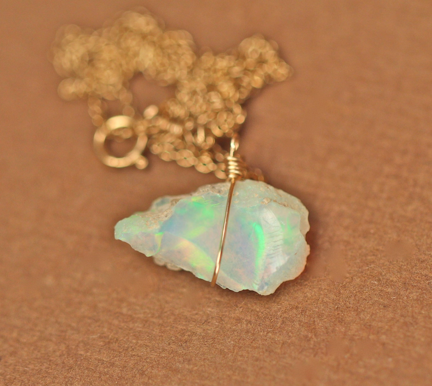 solid product handmade pendant crystal real img rewards gold opal