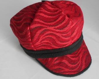 large half-season Hat / gapette woman thick fabric / newsboy cap / Hat woman