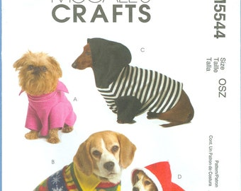 2007 Dog Pullover Coats   Size XS,S,M - McCalls Sewing Pattern 5544