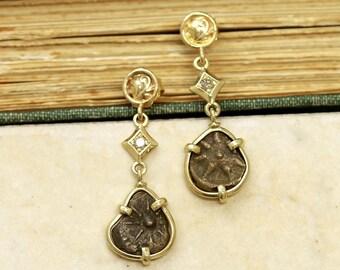 6320 14k Widow's Mite Earrings