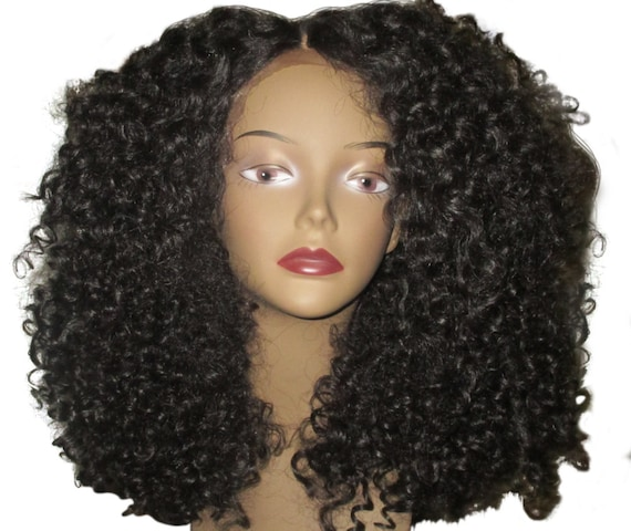 Essence Wigs New The 'DIANA ROSS' Lace Wig Black Full Cap Unit Curly Lacefront Wig Special parting 3b 3c