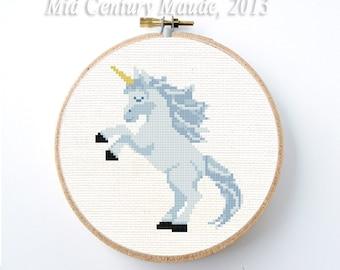 Unicorn Cross Stitch Pattern Instant Download PDF Digital Needlepoint