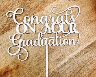 Congratulations On Your Graduation Cake Topper Graduation Cake topper Congrats Grad Graduation Cake Topper Graduation cake decoration SMT
