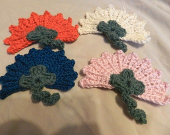 Custom Fanfare Crochet Flower Hair Clip