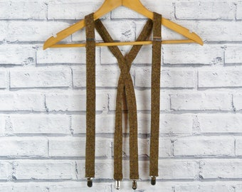 Tweed Braces/Suspenders - Brown Birdseye Yorkshire Tweed