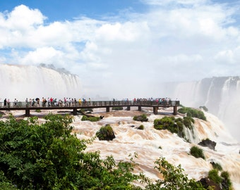 Brazil, Iguazu Falls, waterfall, ladscape photography, Brazil photography, large wall art print, professional photo, fine art #016