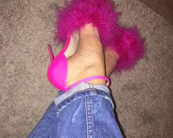 Pinkorama feaher heels
