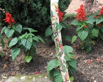 Lady Slipper Flower Walking Cane