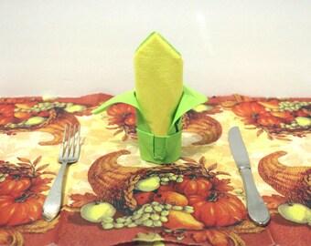 "Paper ""Corn"" Napkin, thanksgiving table decor"