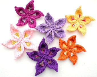 PDF Knitting Pattern - Sakura Flower
