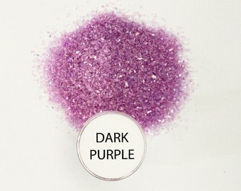 Reneabouquets Chunky Glitter Glass ~ Dark Purple Choose Your Size .5 oz Jar or 2 oz Jar