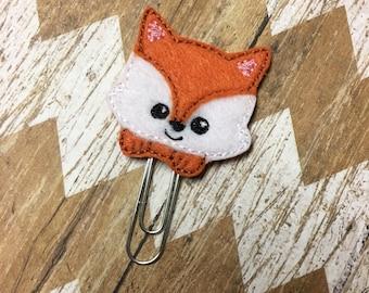 Peeking Fox Planner Clip, Bookmark, Page Clip, Paper Clip, Planner Accessories