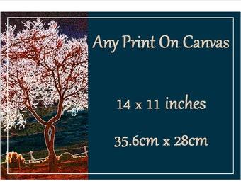 Canvas Print   - 14 inch X 11 inch