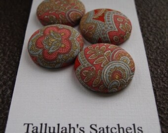 25% off SALEWearable Sew On Fabric Covered Buttons - Size 36 or  7/8 inches  Paisley