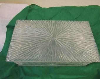 Vintage Plastic Lucite Jewelry Box