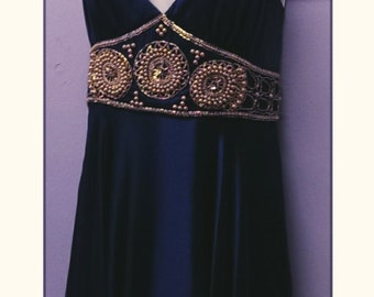 Silk Betsey Johnson Dress with pearl Embellishments