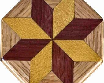 SW-Ph-Oak Quilt Block Pattern Weight