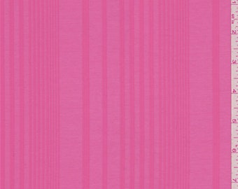 Watermelon Pink Stripe Lawn, Fabric By The Yard