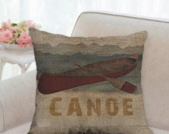 Country Designer Canoe Pillow