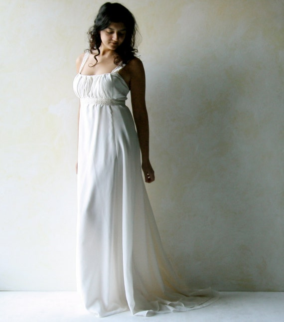 Empire wedding dress Hippie Boho wedding dress Beach wedding