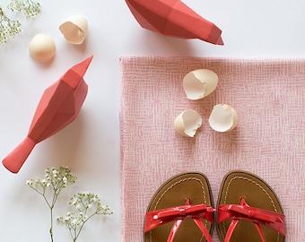Pink & White - 100% Soft Rayon - European Fabric - 1 Yard